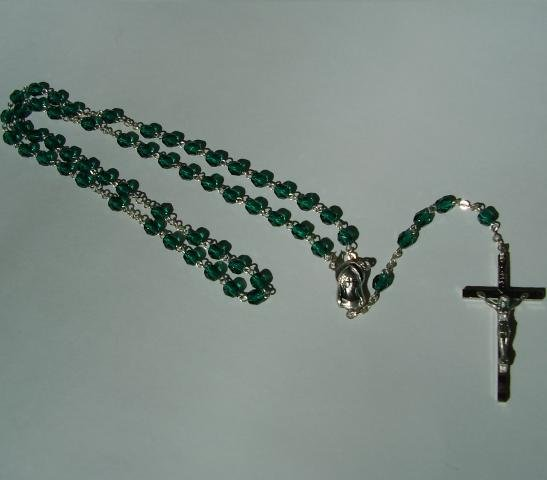 GREEN (DARK GREEN) ROSARY RS129