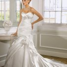 Delicate Strapless Mermaid Trumpet Chapel Train Wedding Dress D63827
