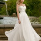Elegant Strapless Floor Length A-Line Wedding Dress D63819