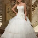 wholesale Exquisite Strapless Ball Gown Floor Length Wedding Dress D63823