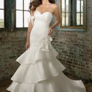 Fantastic Strapless Mermaid Trumpet Hi-Lo Wedding Dress  D63829