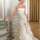 Sexy Strapless Mermaid Trumpet Floor Length Wedding Dress D63831