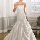 wholesale Elegant Strapless Mermaid Trumpet Chapel Train Wedding Dress  D63835