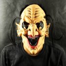 Bloody Teeth Black Hair Baldish Scary Halloween Party Mask D65290