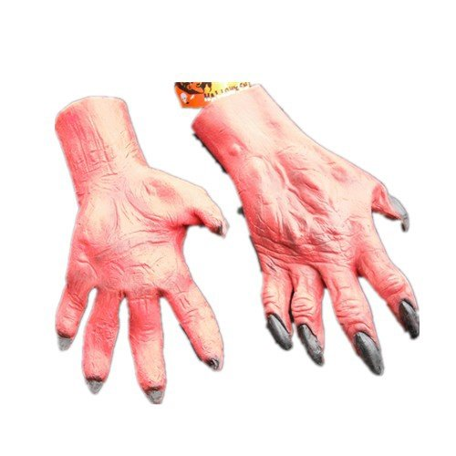 Vivid Devil Nail Halloween Gloves  D65548