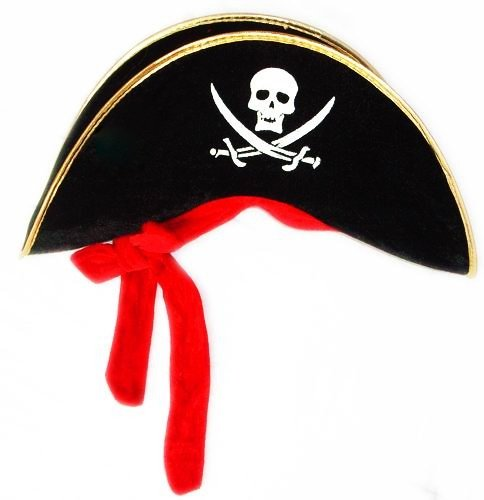 Stylish Commanding Black Pirate Hat D65546