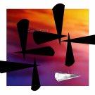 Aluk 1, 5 x 7 Print, Abstratct Digital Fine Art Image Photo, Gold Silver Black Chrome