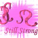 Still Strong 2, 5 x 7 Print, Digital Fine Art Image Photo strong Courage, breast cancer life pink