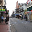 NO 3, 5x7 Print - Fine Art Image Photo Digital, new orleans bourbon st architecture bar neon street