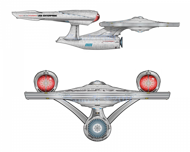 Star Trek 2009 USS Enterprise 8x10 Print, Abstratct Digital Fine Art Image Photo