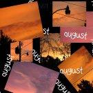 August - 8x10 Print, Digital Fine Art Image Photo - Sunset, summer, fall, Power lines, Clouds