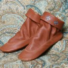 Women's Deertan Leather Pull-On Teepee Boots Size 4-10 Medium Multi-Color USA