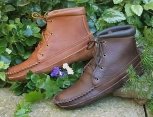 Womens Cowhide Walking Boots Canoe Soles Cushion Insoles Sizes 4-10 Handmade USA
