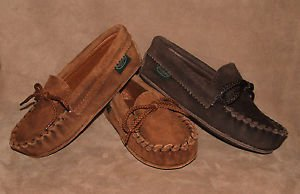 Childrens Softsole Suede-Side-Out Cowhide Moccasins Flat Leather Sole 8-13 1-3