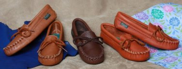 Childrens Cowhide Softsole Moccasins Cushion Insoles 8-13 1-3 Made in USA