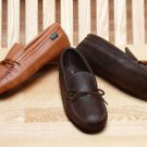 Mens Moccasins Deertan Leather Canoe Soles Cushion Insoles Sizes 6-13 Made USA
