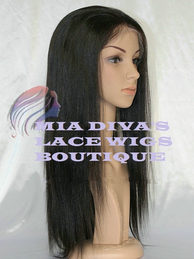 """18"""" INDIAN REMY SILKY STRAIGHT FULL LACE WIGS,"""
