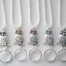 ID Name Badge Holder OR Handy Reading/Sun Glasses Holder.Lanyard. 5 Colors. Owl