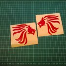 Red Aprilia Lion Head Logo Stickers - REFLECTIVE