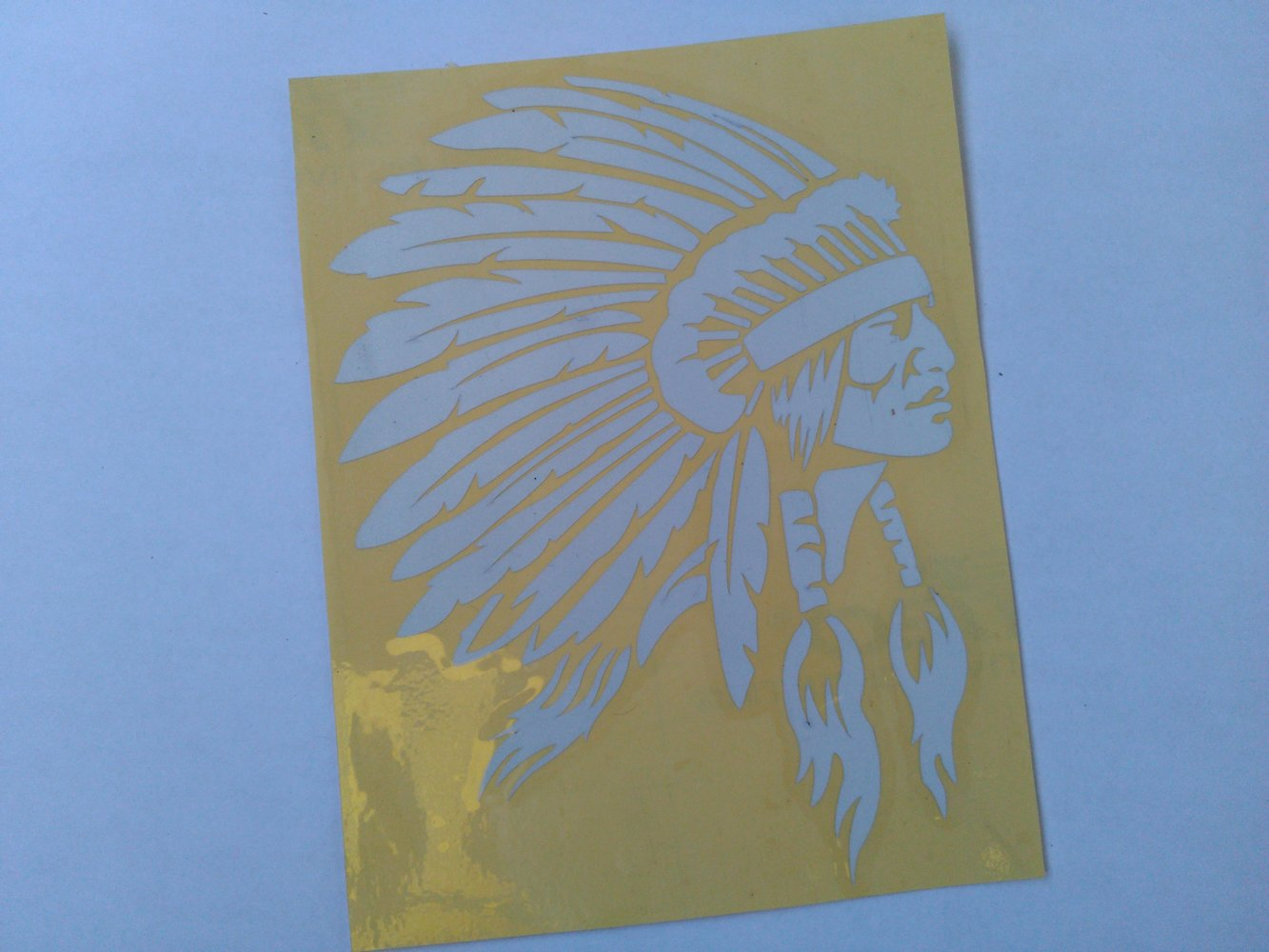 Indian Chief Logo Apache Stickers - REFLECTIVE