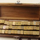Antique Alphabet and Number Stamps - 42 pcs