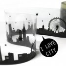 City Illustration Transparent Tape