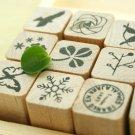 Nature Pattern Stamp Set - 12 pcs