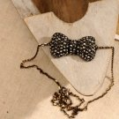 Small Studded Bow Necklace