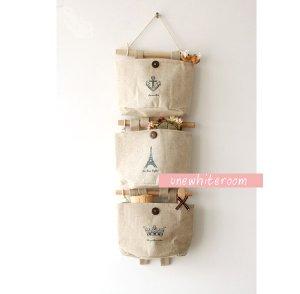 Hanging Cotton Storage Bag