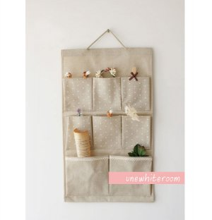 Hanging Cotton Pocket Storage Bag