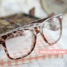 Leopard-Printed Frame Glasses