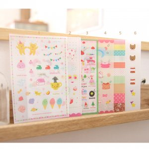 Momoro Sweet Stickers Pack - 6 sheets