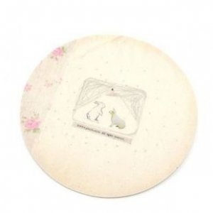 Snowy Bunny Round Mouse Pad