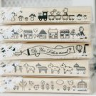 Very Long Playful Stamps Set - 5 pcs