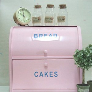 Pink Tin Bread and Cakes Double Storage