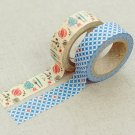 Masking Tape 2 in 1 - Blue and Creamy