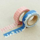 Masking Tape 2 in 1 - Blue and Red
