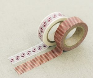 Masking Tape 2 in 1 - Red and White