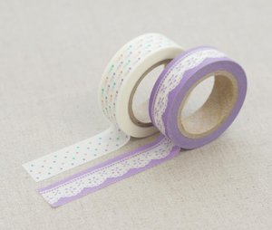 Masking Tape 2 in 1 - Purple and White