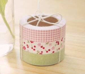 Fabric Tape 3 in 1 - Solid, Flower, Check