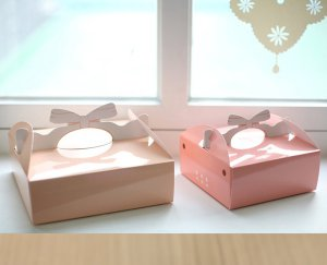 A Pair of Lovely Pink and Cream Orange Gift Box