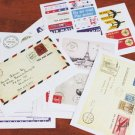 Vintage Postage Stickers - 11 sheets