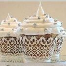 White Flora Cupcake Wrapper - 10 pcs