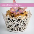 White Butterfly Cupcake Wrapper - 10 pcs