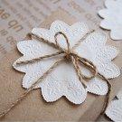 White Round Lace Cake Pad - 10 pcs