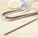 Brown Knitted Lace Ribbon - 2 meters