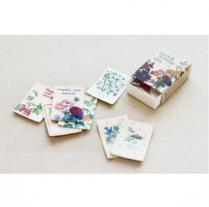 Beautiful Flowers - Stick and Sewing Leather Label