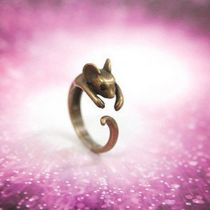 Retro Hugging Mouse Ring