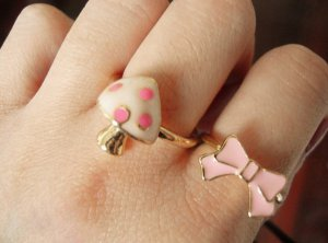 A Set of Two Pink Rings