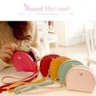 Round Mini Case - Red, Mint, Baby Pink, Yellow, Brown, Hot Pink